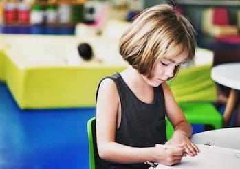girl, kindergarten