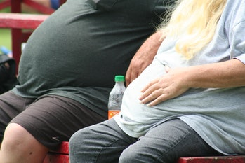 Obese couple.