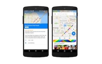 Google maps pride month rainbows