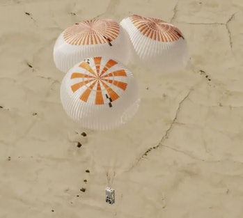 SpaceX tests its parachutes.