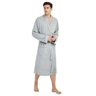 U2SKIIN Mens Cotton Robe