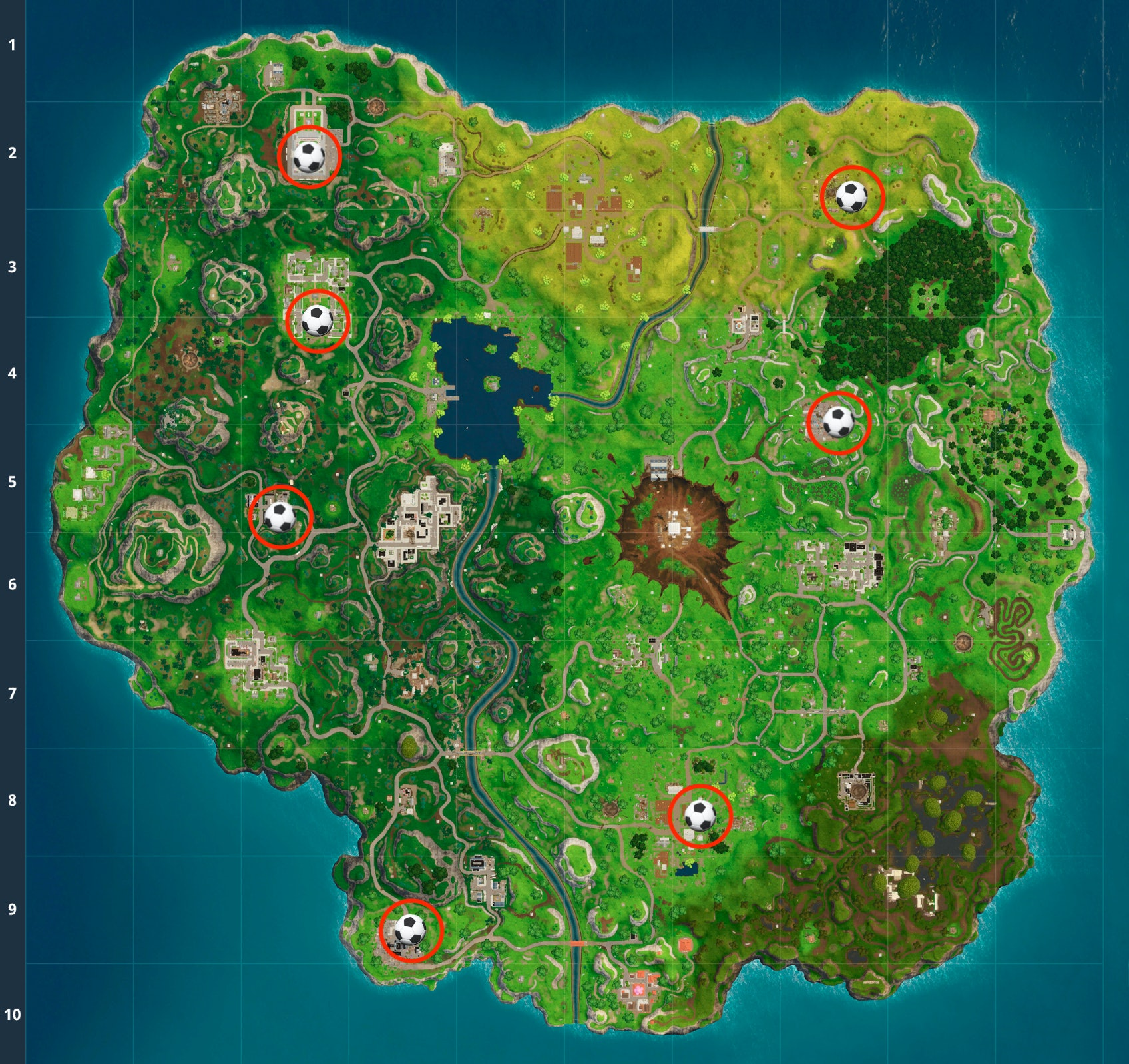 'Fortnite' Week 7 Soccer Pitch Challenge Map