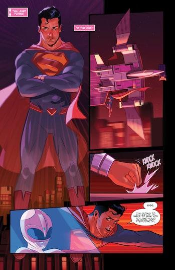 Power Rangers Justice League Pink Ranger Superman