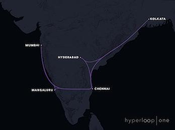 Mumbai-Kolkata route.