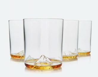 Whiskey Peaks International Mountain Set Glasses
