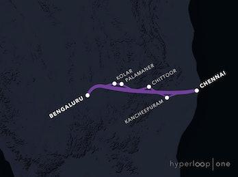 Chennai-Bengaluru route.