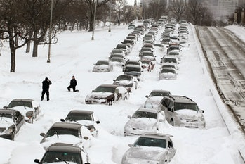Lake Shore Drive blizzard
