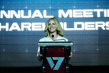 Elisabeth Shue as Vought executive Madelyne Stillwell.