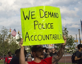 protest, police