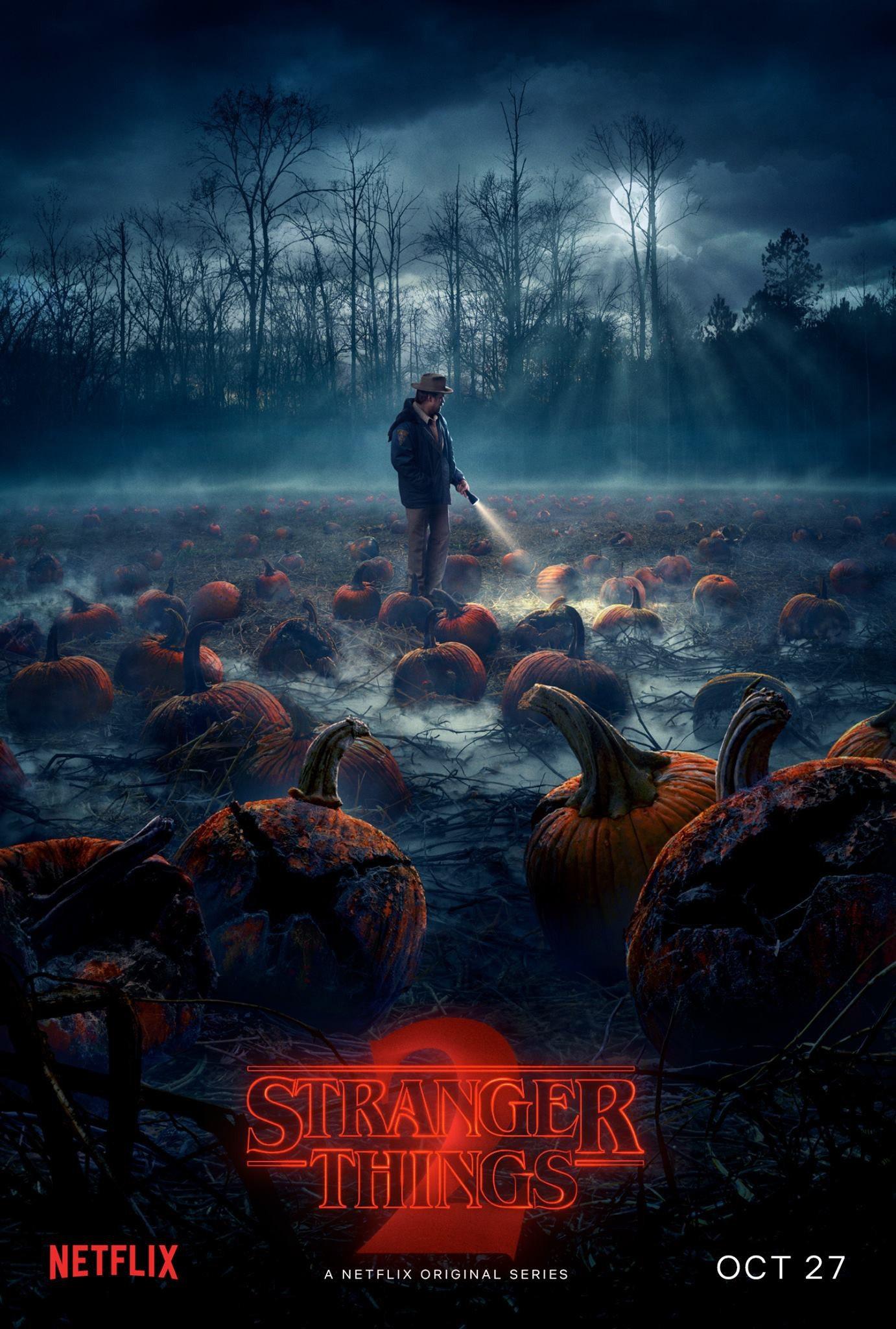 Stranger Things 2 pumpkins poster