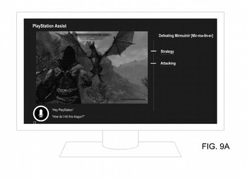 sony ps5 voice assistant feature patent