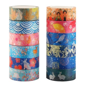 Kyoto Series Masking Washi Tape Collection for Arts and DIY Crafts