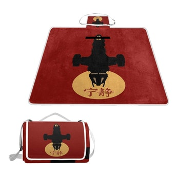 Wecye Firefly Serenity Silhouette Picnic Mat Outdoor Blanket