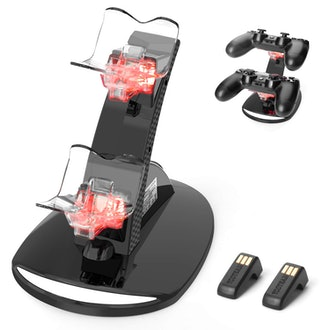 PS4 Controller Wireless Charging Dock for 2