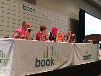 Cory Doctorow,Annalee Newitz, Charlie Jane Anders, and John Scalzi at Book Con