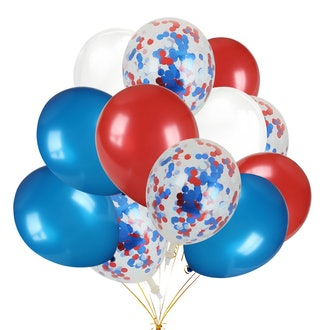 30pcs Red, White and Blue Latex Balloons