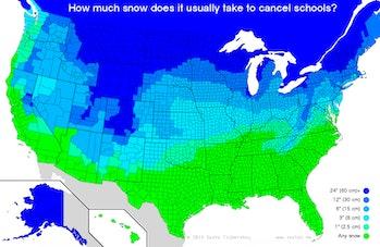 snow day map school cancellation