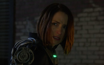 Alex Danvers in a super-adjacent exosuit in 'Supergirl'