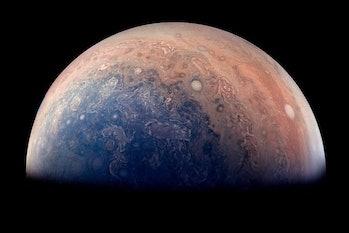 Those majestic Jupiter swirls, up close.