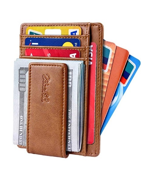 Zitahli Slim & Minimalist Bifold Front Pocket Wallet with Strong Magnet  Money Clip