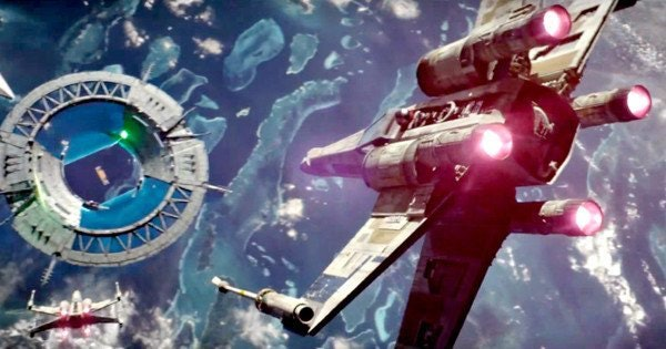 X-Wing attack above Scarif in 'Rogue One'