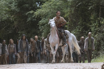 the walking dead andrew lincoln rick grimes final episode horse amc walkers