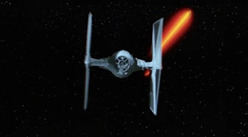 A classic TIE Fighter from the original 'Star Wars' in 1977.