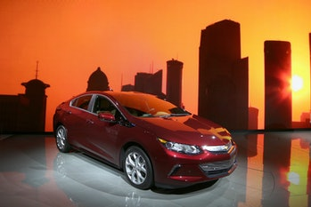 The Chevrolet Volt plug-in hybrid had to go under a different name in China.