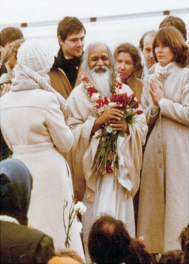 Maharishi Mahesh Yogi during a 1979 visit to MUM