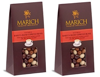 Marich Barista Blend Premium Chocolate-Covered Espresso Beans 4.25-Ounce (Pack of 2)