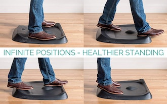 Not-Flat Standing Desk Anti-Fatigue Mat with Calculated Terrain