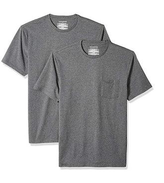 Amazon Essentials Men's 2-Pack Slim-Fit Short-Sleeve Crewneck T-Shirt