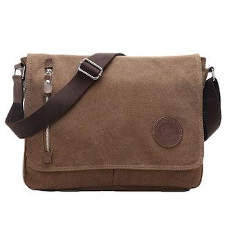 Egoelife Messenger Bag for Traveling Camping - Coffee