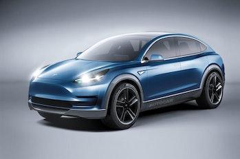 Autocar's concept of a Tesla Model Y.