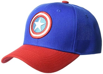 Marvel Men's Captain America Baseball Cap with 3D Embroidered Shield