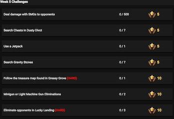 Leaked Week 5 'Fortnite' Challenges