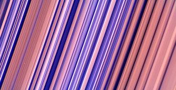 cassini saturn rings color enhanced