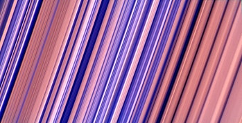 cassini saturn rings color enhanced