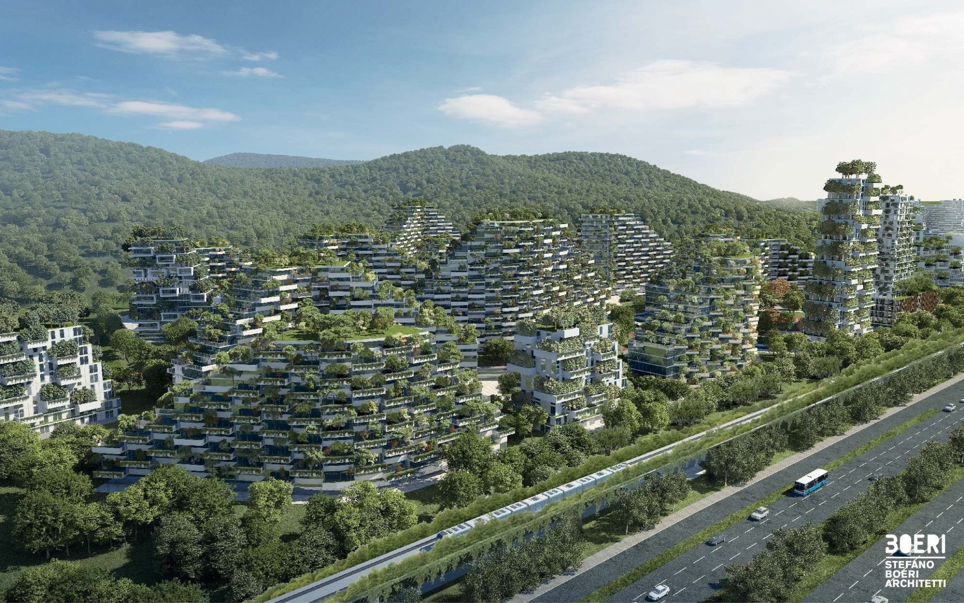 stefano boeri architetti liuzhou forest city tree apartment building architecture