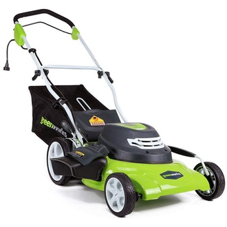 GreenWorks 20-Inch 12-Amp Corded Electric Lawn Mower