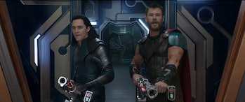 Loki and Thor wield some guns.