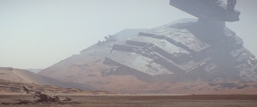 A crashed Star Destroyer in 'Force Awakens'