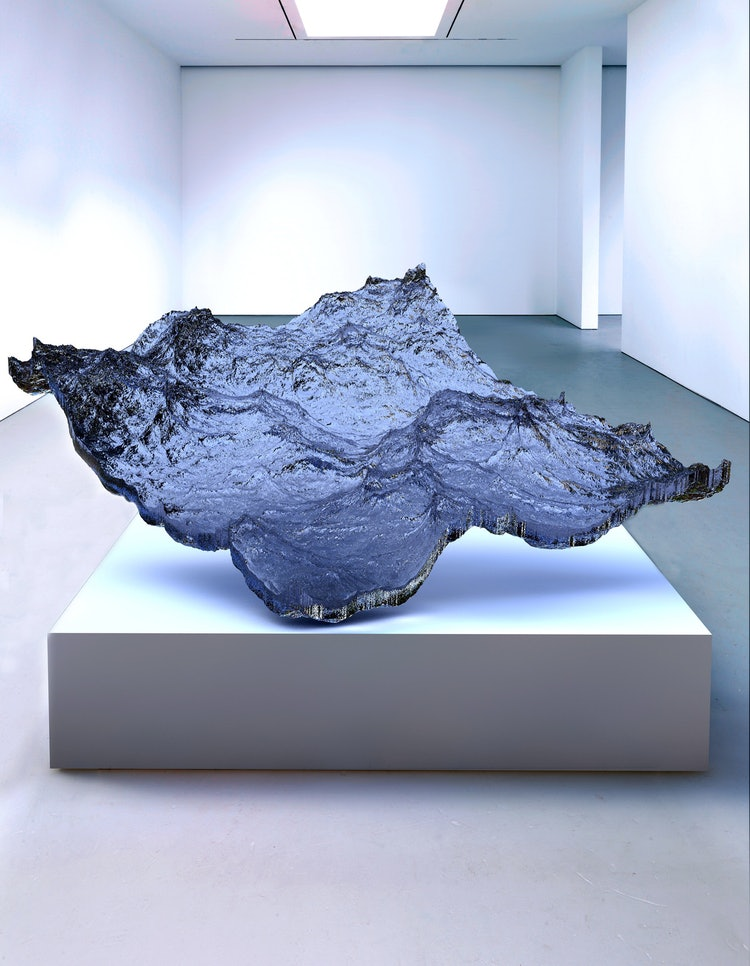 Gever previously printed a 3-D sculpture of ocean waves.