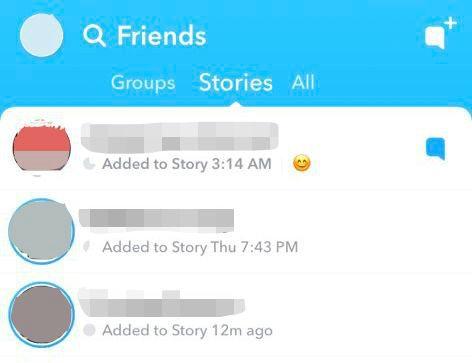 Leaked screenshot of Snapchat's newest beta.