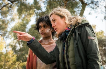 ActressSimone Landers (left) who plays Thoomi with 'Cargo' co-director Yolada Ramke.