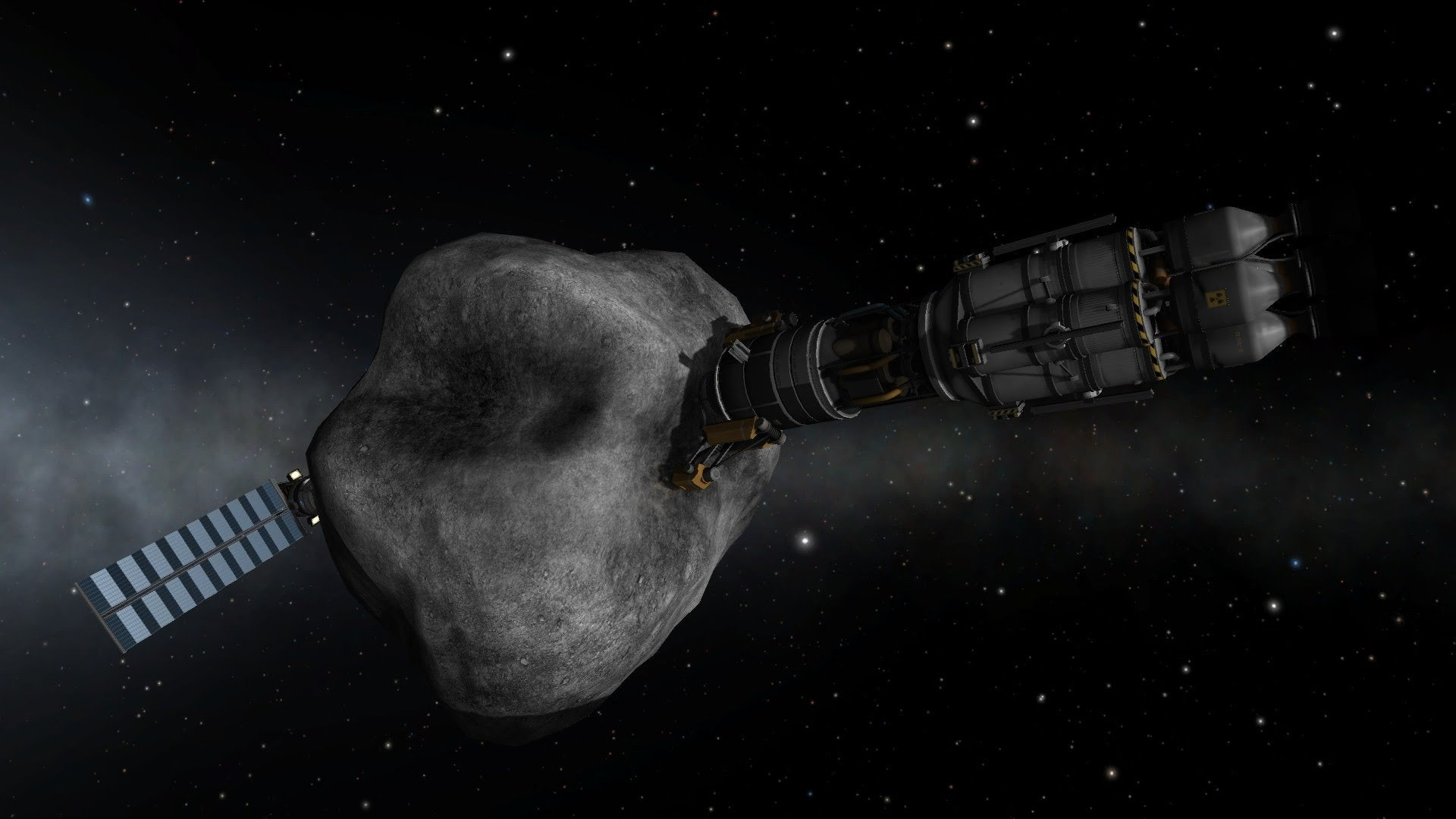 There's a lot of concept art for asteroid mining spacecraft, but none have gotten off the ground yet.
