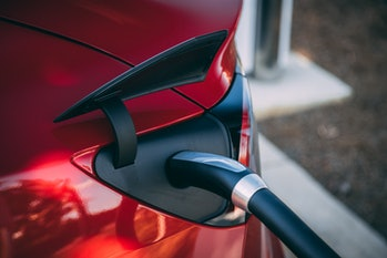 An EV charging.
