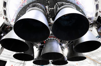Falcon 9's Merlin engines.