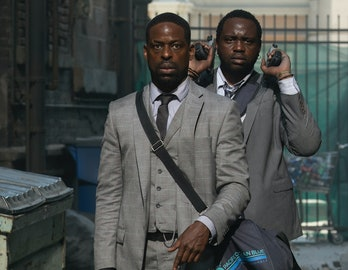 Sterling K. Brown andBrian Tyree Henry play bank robbers who go to 'Hotel Artemis' a heist goes awry.