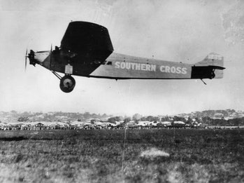 The first trans-Pacific flight included three layovers, with legs as long as 34.5 hours.